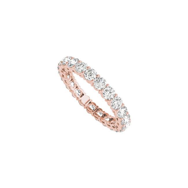 4CT 14K Rose Gold Full Circle Eternity Ring for Women, Size 6 - image 1 de 1