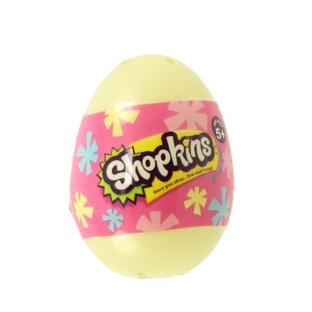 New Shopkins Surprise Easter Egg 2 pack Season 4 (1pc) ( Egg Color Will Vary ) (Chocolate Egg Surprise)