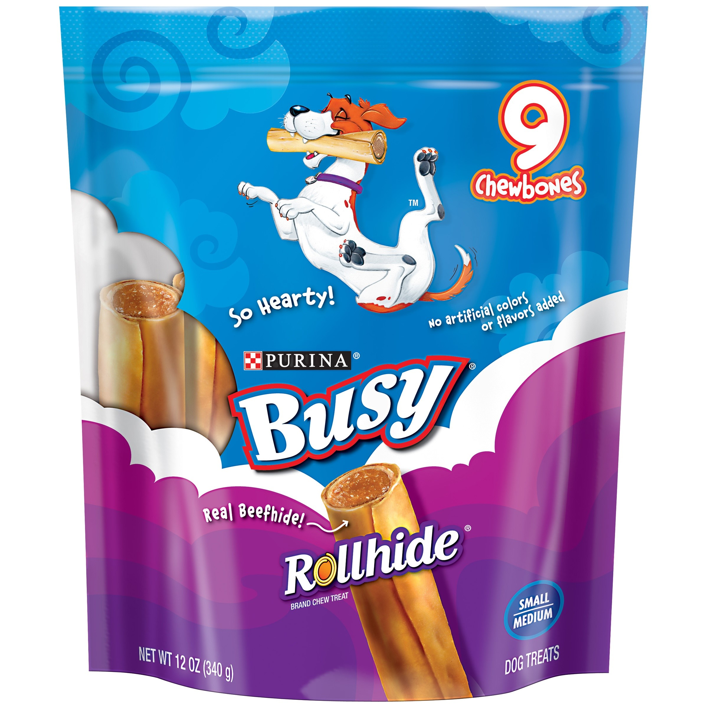 Purina Busy Rollhide Small/Medium Dog Treats 9 ct Pouch
