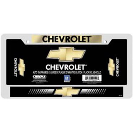 Chevrolet Domed Chrome License Plate Frame