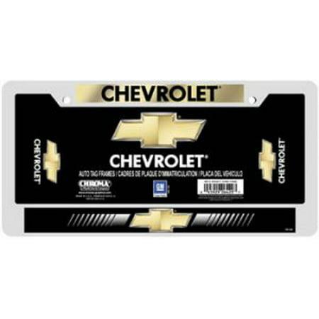 Chevrolet Domed Chrome License Plate Frame Chevrolet License Plate Frame