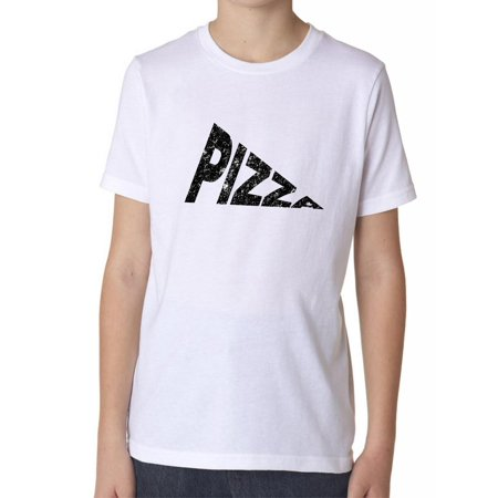 6f6a6849 Hollywood - Simple Pizza Slice Word Graphic Boy's Cotton Youth T-Shirt -  Walmart.com