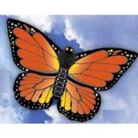 WindnSun Monarch Butterfly Nylon Kite-32 Inches Wide Multi-Colored