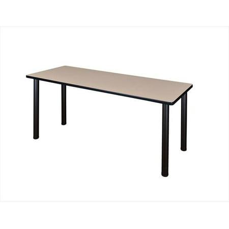 Regency MT6624BEBPBK 66 X 24 In. Kee Training Table - Beige & Black Post Legs ()
