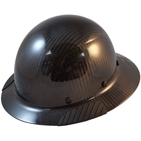 a7baa213fe5 Lift Safety - DAX Actual Carbon Fiber Material Hard Hat - Full Brim Glossy  Black - Walmart.com