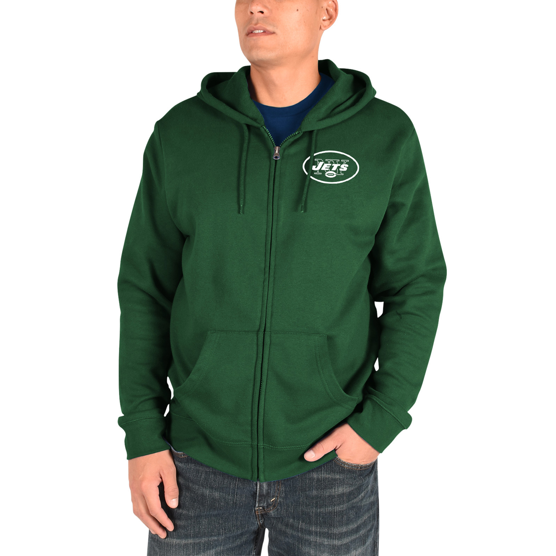 New York Jets Majestic Realm of Champions Full-Zip Hoodie - Green