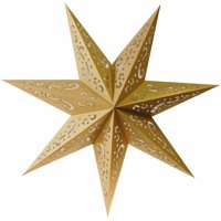 LumaBase Paper Lantern, 7 Point Star - Set of Three