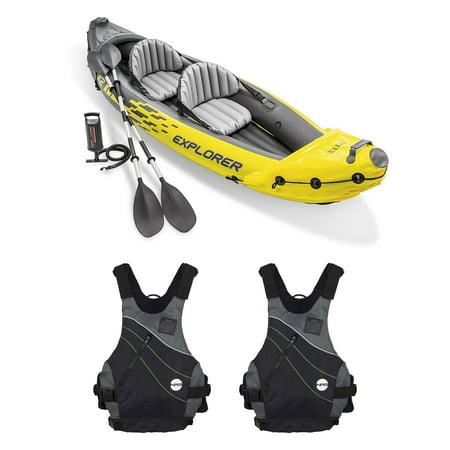 Intex Explorer Inflatable Kayak W Air Pump Amp Blue Sm Med