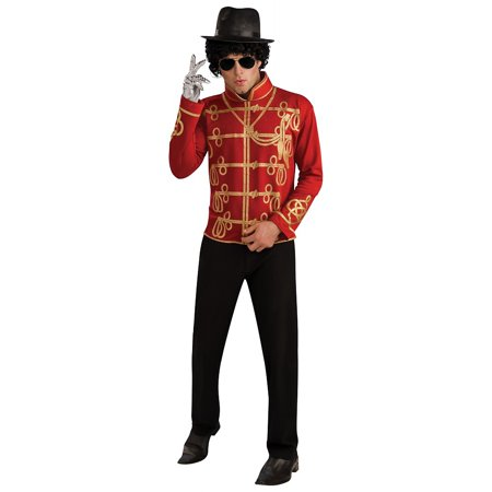 Michael Jackson Halloween Costume For Toddler (Michael Jackson Adult Costume Red Military Jacket -)