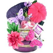 Fun Womens Bath and Body Gift Basket with Candles