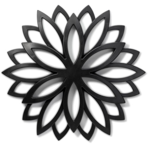 Home Trends Layla Medallion Wall Decor, Black Image 1 of 3