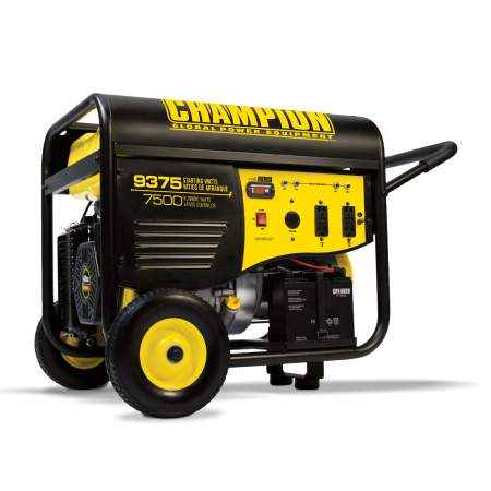 Usa Electric Generator (Champion 100219 7500-Watt Portable Generator with Electric Start and 25-ft. Extension Cord)