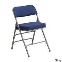 Offex  Hercules Premium Curved Upholstered Metal Folding Chair