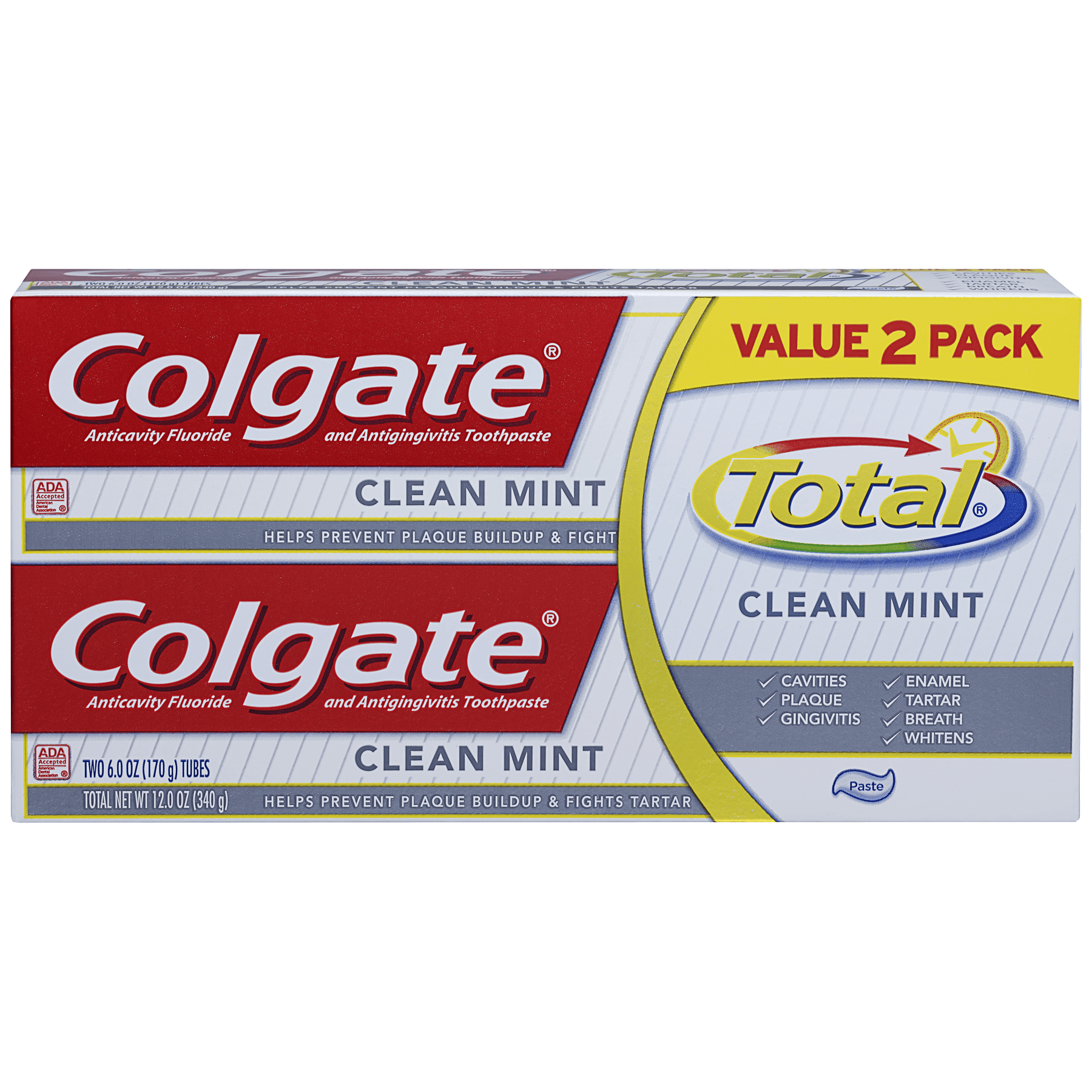 Colgate Total Clean Mint Toothpaste Twin Pack - 12 oz