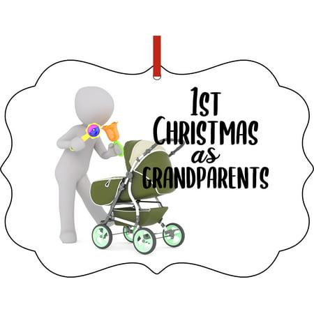 Ornaments Baby Ornament 1st Christmas as Grandparents Carraige Ornament Christmas Décor ()
