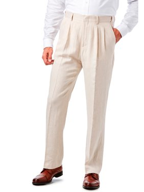 KS SignatureMen's Big & TallKS Island™ Linen Blend Double-Pleat Front Dress Pants