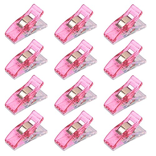 Liangxiang 100pcs Wonder Clips Colorful Quilting clips Sewing Clip Quilters clips Craft Tool - Pink
