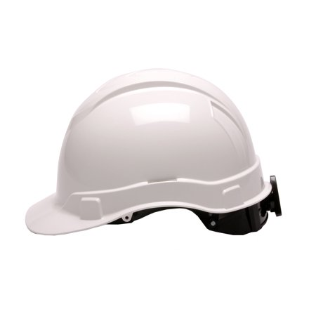Pyramex Safety Products Ridgeline Cap Style Hard Hat 4 Point Ratchet, White