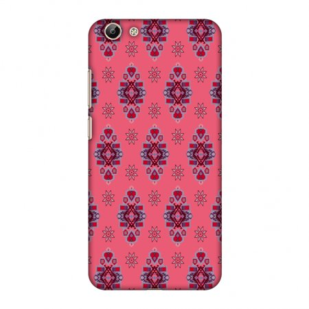 big sale 48646 626f4 Vivo Y69 Case - Tribal florals- Bright pink, Hard Plastic Back Cover, Slim  Profile Cute Printed Designer Snap on Case with Screen Cleaning Kit