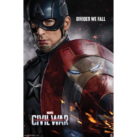 Captain America Poster (Captain America- Civil War One Sheet Poster -)