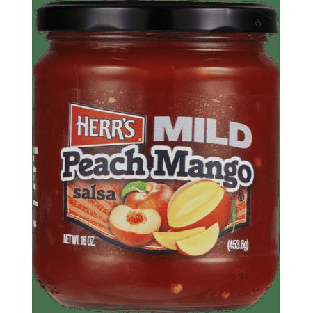 Mango Salsa Ingredients (Herr's Mild Peach Mango Salsa 16 oz. Jar (2 Jars) )