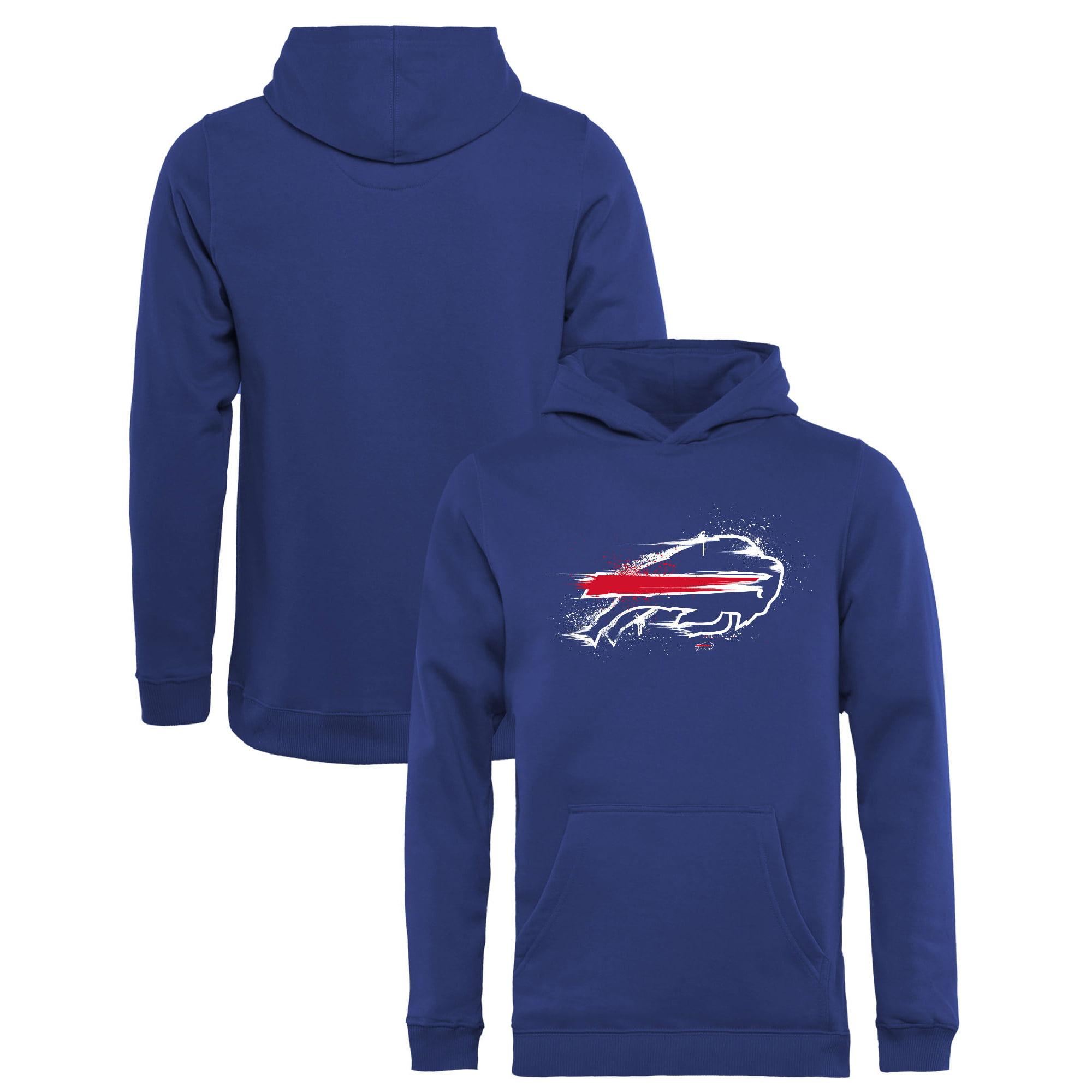 Buffalo Bills NFL Pro Line by Fanatics Branded Youth Splatter Logo Pullover Hoodie - Royal