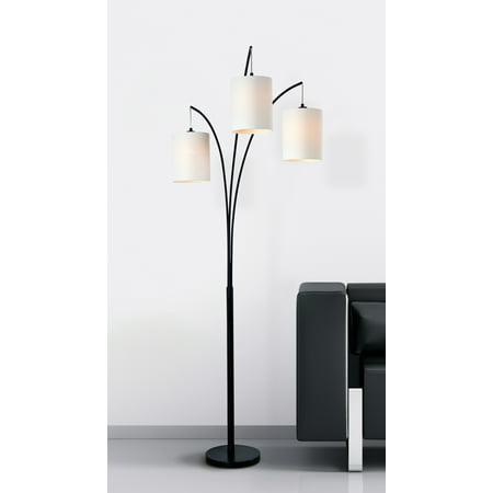 Kenroy Home Leah Black Arc Floor Lamp ()