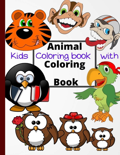 Kids Coloring Book With Animal Coloring Book : Cool Coloring For Girls &  Boys Aged 04-08: