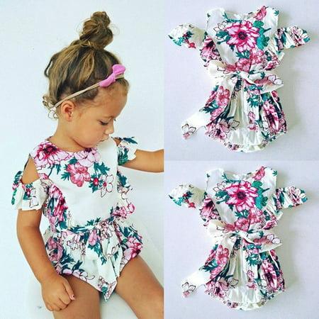 ff50146d1 Emmababy - Toddler Kids Baby Girl Floral Off Shoulder Romper ...