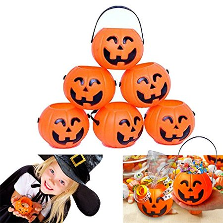 Dazzling Toys Pumpkin Candy Holder 12 Mini Trick-or-treat Halloween Candy Bucket - Disfraces De Halloween Mimi