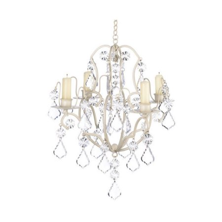Zingz and Thingz Baroque Chandelier in Ivory by