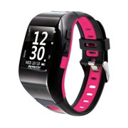 PAPAGO GPS Multi Sport Watch with GoHeart 100 ANT+ Heart Rate Monitor (Pink)