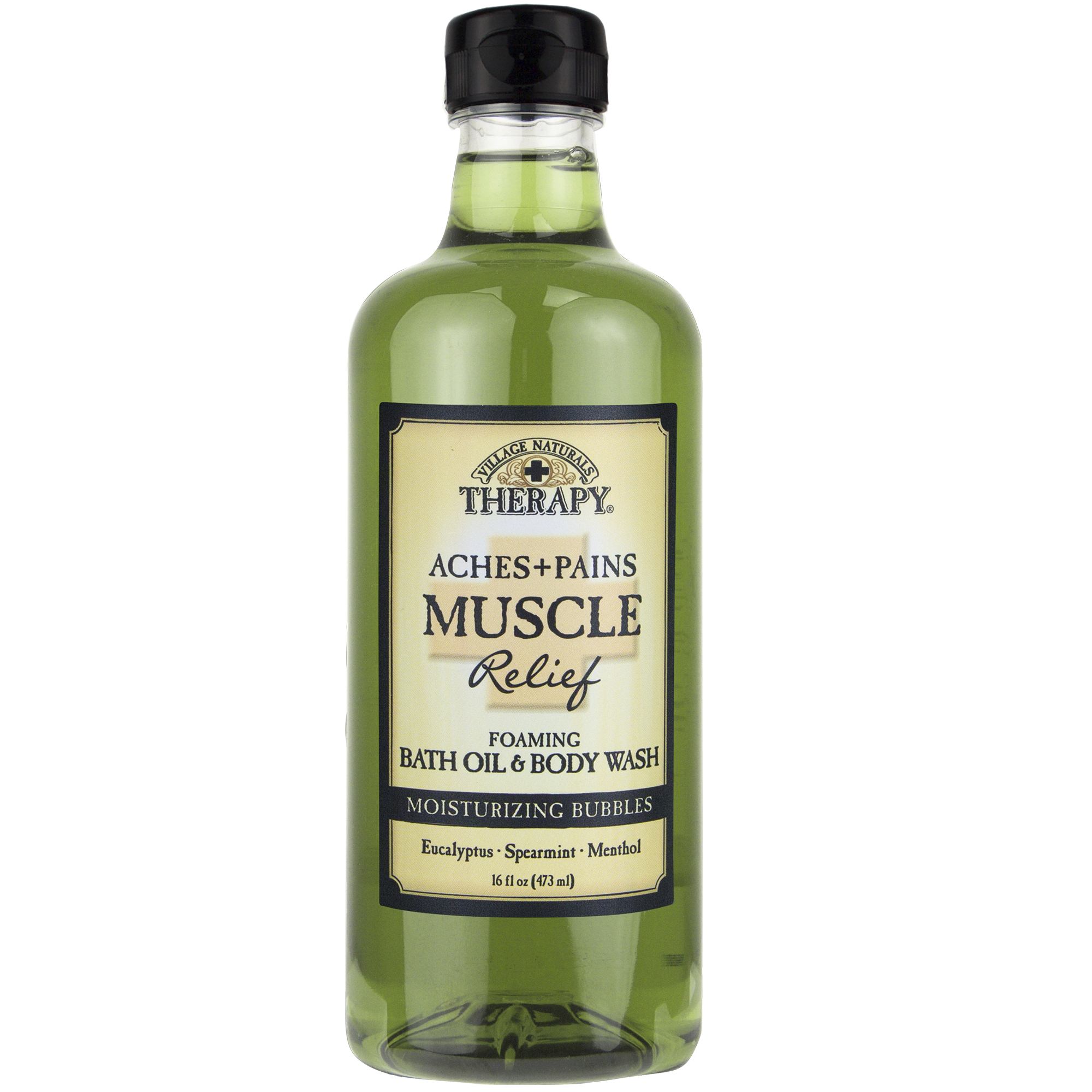 Village Naturals Therapy, Aches & Pains Muscle Relief Foaming Bath Oil & Body Wash