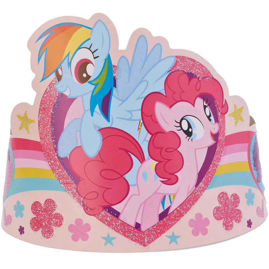 My Little Pony Party Tiaras, 8 Count, Party Supplies