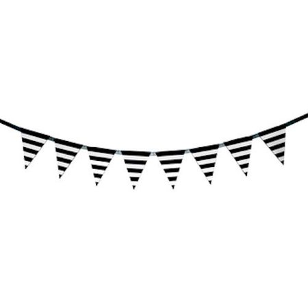 Black And White Striped Party Supplies (Black and White Striped Banner Party Decoration Party)