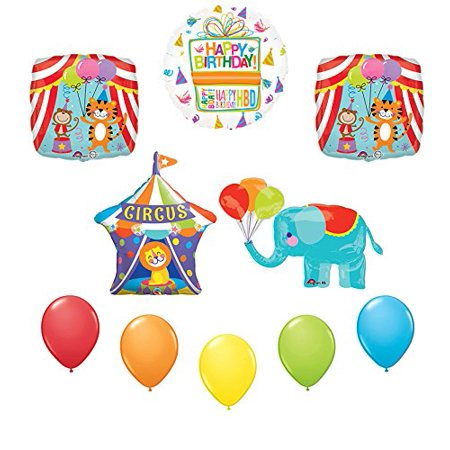 Circus Elephant Birthday Party Supplies Decoration Balloon Kit - Vintage Circus Party Supplies
