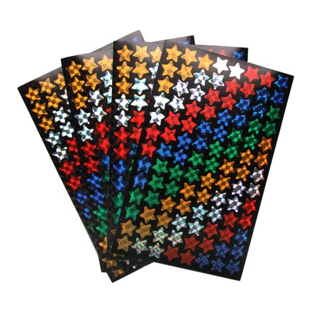 Sticker Incentive Multi Color Hologrpahic Star - Star Stickers
