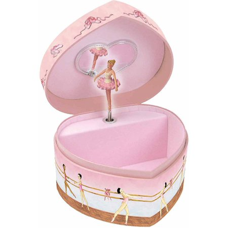 Ballet Heart-Shape Music & Treasure Box