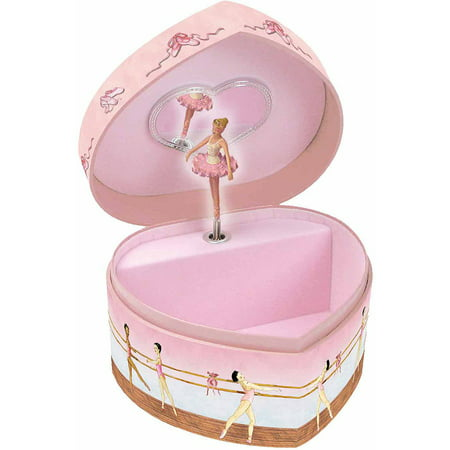 Enchantmints Ballet Heart-Shape Music & Treasure Box - Little Girls Jewelry Boxes