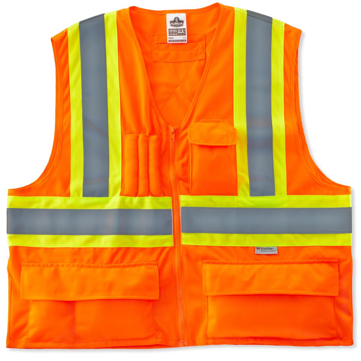GLoWEAR 8235ZX Type R Class 2 Two-Tone X-Back Vest Orange 2XL/3XL