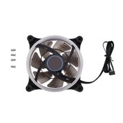 FAGINEY 120mm 7-Blade RGB LED Adjustable Light Computer PC Case Cooling Fans High Airflow Quiet Cooler
