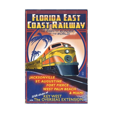 Key West, Florida - East Coast Railway Print Wall Art By Lantern Press