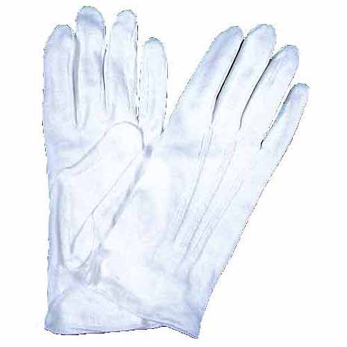 White Gloves Adult Halloween Accessory