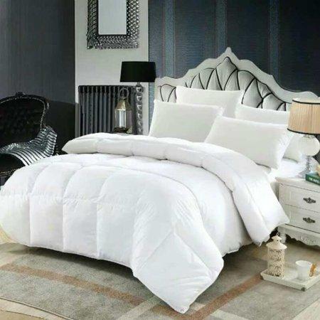 dozzz bedding queen comforter set white alternative quilted comforter with corner tabs 88 x 88. Black Bedroom Furniture Sets. Home Design Ideas