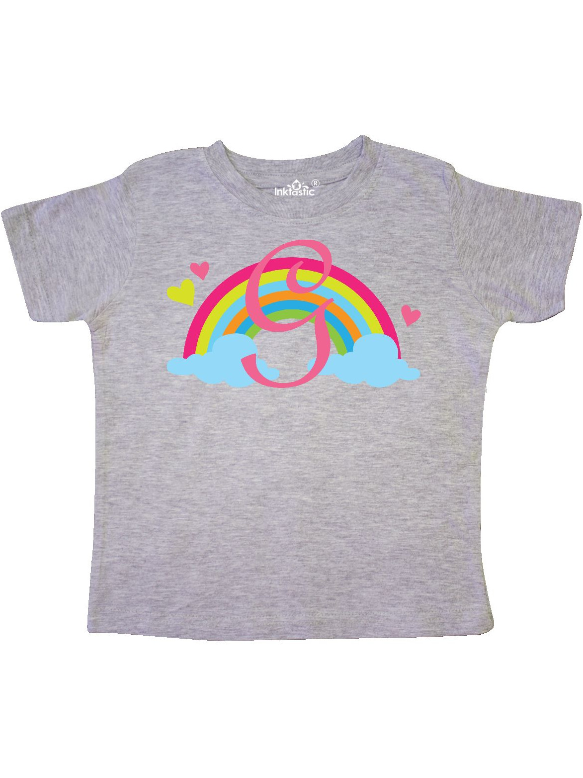 inktastic Monogram Letter L Rainbow Toddler T-Shirt