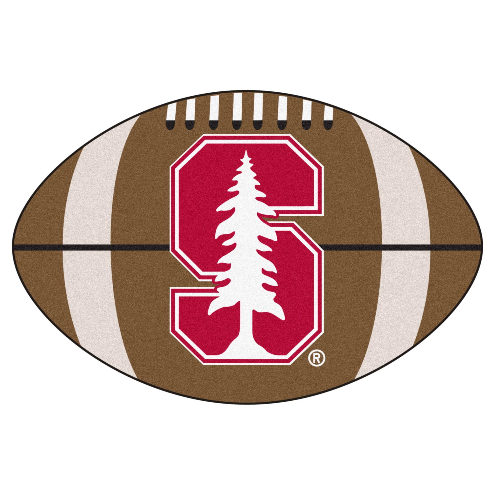 NCAA Stanford University Cardinal Football Shaped Mat Area Rug