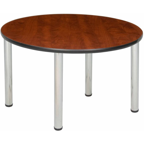 "Regency Seating 42"" Round Table with Chrome Post Legs"