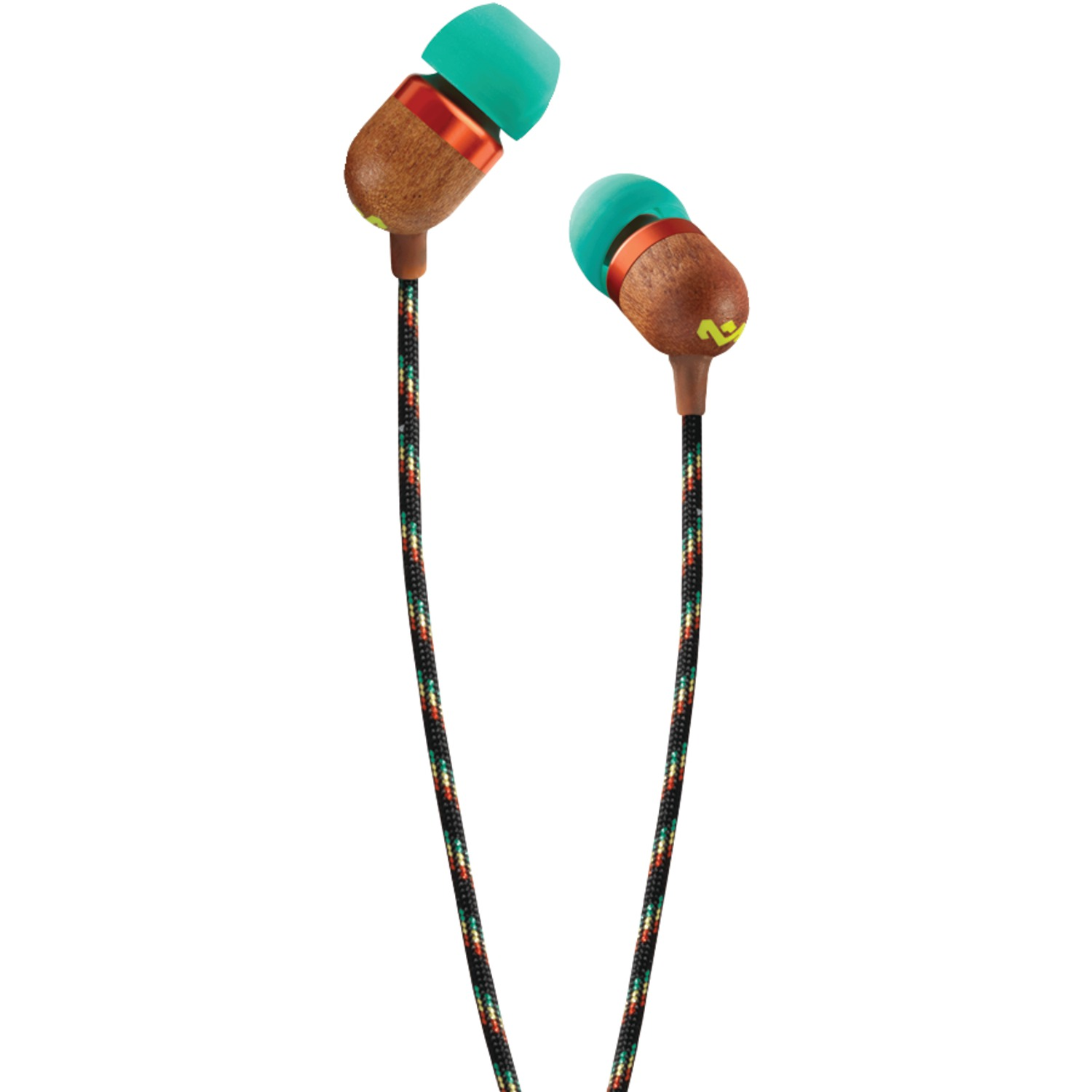 HOUSE OF MARLEY EM-JE000-RA Smile Jamaica(TM) In-Ear Earbuds (Rasta)