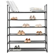 SortWise Range-chaussures à 6 niveaux, organisateur de chaussures, 30 paires, noir