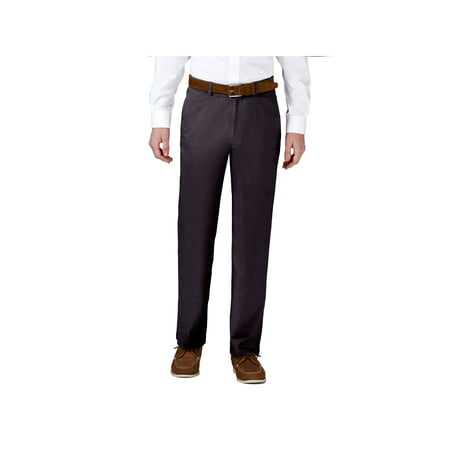 Mens Chino Pants Khaki (Haggar Men's Coastal Comfort Flat Front Chino Pant Classic Fit HC00223 )
